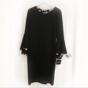 Liz Claiborne black women's dress bell sleeve Sz 6